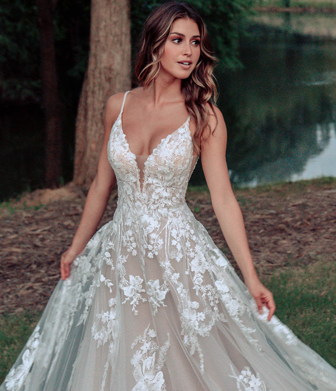 Photo of Model Wearing a Allure Bridals Gown