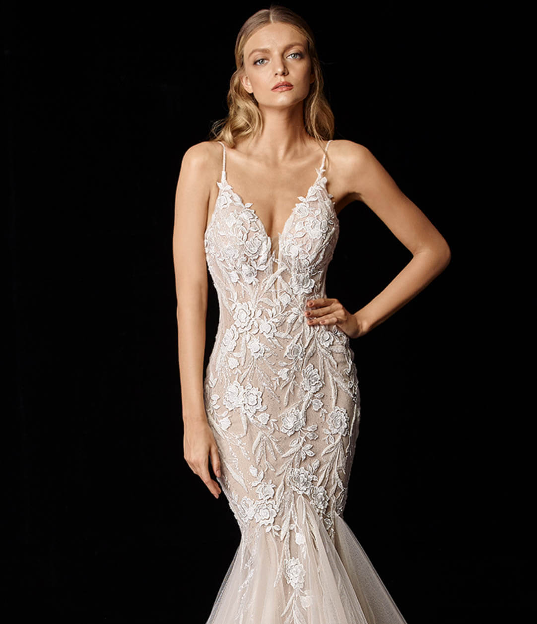 Photo of Model Wearing a Enzoani Gown